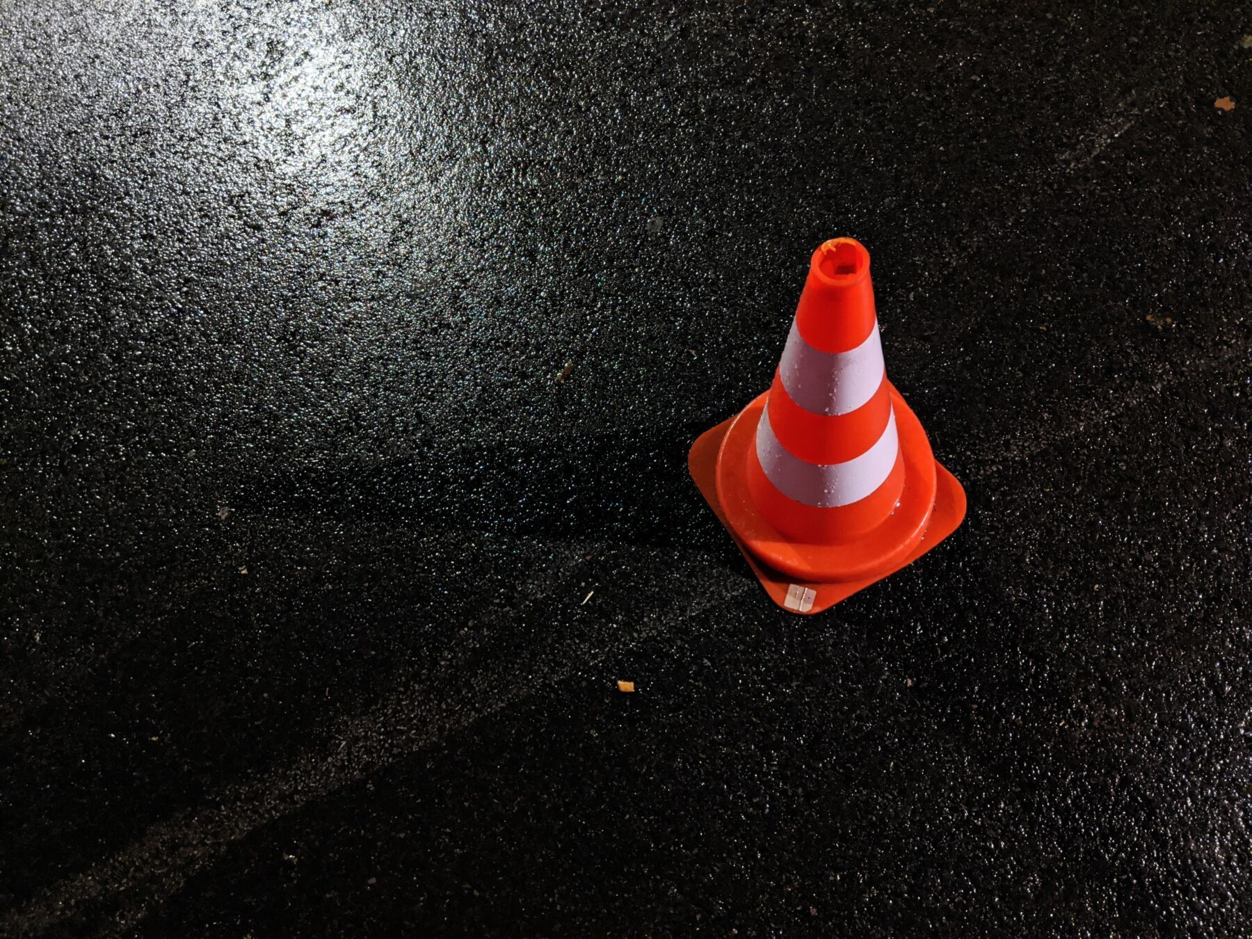 traffic cone to show danger
